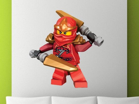 Ninjago kai abnehmbare wiederverwendbaren wand von stickymania - Lego wandtattoo ...
