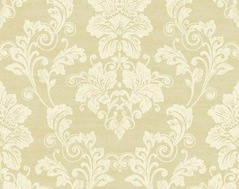Elegant Cream & Gold Damask Wallpaper PS3802 - Sold by the Yard