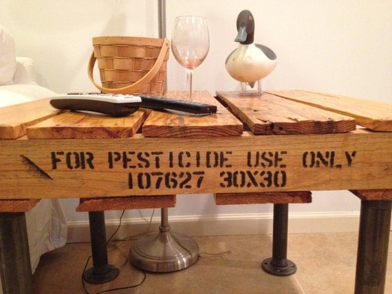 "The Manchester"" Custom Reclaimed 30""x30"" Pallet End/Coffee Table ..."
