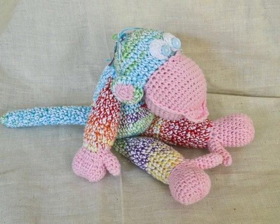 Crochet Toys For Boys : Large crochet toy monkey boy amigurumi style hand
