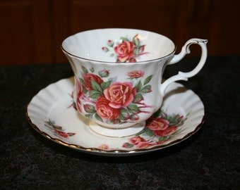 Vintage Royal Albert Centennial Rose Teacup and Saucer