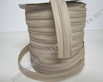 Zipper #4 Beige 10 yards + 20 slides
