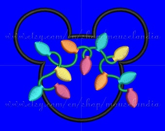 Cute Mister mouse Head Applique Design Embroidery 3 sizes 4X4, 5X7 and 6X10 Instant Download