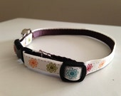 Colorful Flowers Cat Collar