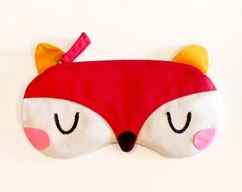 FOX Pencil Pouch, Fox Fabric Zip Pouch, FOX pouch, Fox purse, Fox bag, Pen pouch, Stationery pouch, Back To School, Red Fox fabric pouch