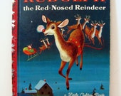 Vintage Rudolph the Red Nosed Reindeer Little Golden Book with Richard Scarry Illustrations 1958
