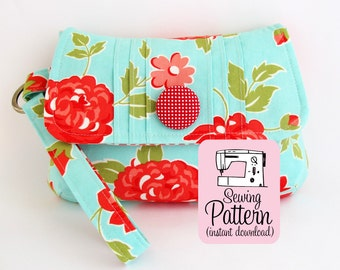 Pintuck Wristlet PDF Sewing Pattern | Clutch Handbag Bridesmaids Bags Sewing Pattern PDF
