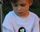 Penguin T-Shirt Youth & Toddler Sizes - Gray or Yellow