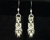 Sterling Silver Graduated Byzantine Earrings
