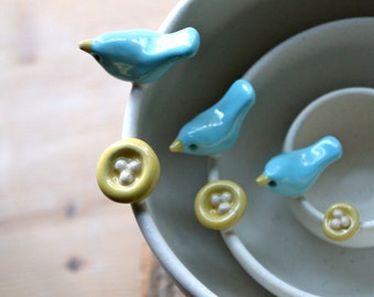 Handmade Pottery Bird & Nest Nesting Bowl Set - 4-6 for Delivery- Mother's Day