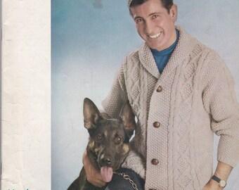 Diamond Yarn Corp. Book No 28 Men's Fashions in Lee Target British Yarns - Vintage Knitting Patterns
