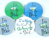 8 Personalized Martini Bachelorette Favors, Pinback Buttons, Bottle Openers, Mirrors or Magnets
