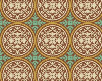 Scrollwork in Maple by Joel Dewberry / True Colors for Free Spirit  /  1 yard Cotton Quilt / Apparel Fabric