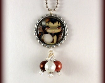 """Jasmine Becket-Griffith  """" Owlyn in the Nest """"  necklace"""
