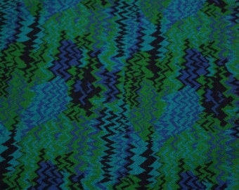 Vintage Chevron Fabric Craft Supplies Retro Fabric 70s Abstract Fabric Yardage Turquoise Royal Blue Kelly Green Navy Hippie Boho Bohemian