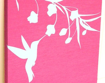 Pink Hummingbird Wall Art