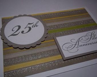 Silver Anniversary, 25th Anniversary, Happy 25th Anniversary Card, Anniversary Card, Anniversary Card For Couple, Anniversary Greeting Card