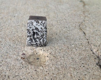 house bead, kiln fired, clay, raku