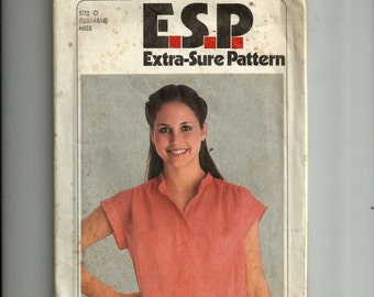 Simplicity Misses' Pullover Top Pattern 9023