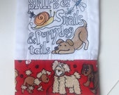 Snips & Snails and Puppydog Tails - Baby Boy Burp Cloth