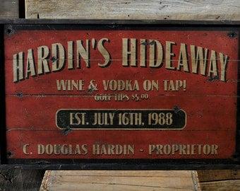 Proprietor Sign, Home Bar Sign, Wood Bar Sign, Home Bar Decor, Bar Wall Decor, Custom Bar Sign - Rustic Hand Made Vintage Wooden ENS1000619