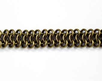 Antique Brass, 11mm Chain Maille #CC53