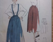 """Vintage 1950s Skirt and Jumper Sewing Pattern Maternity Day and Evening Lengths 28"""" Waist"""