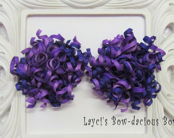 Shades of Purple Korker Set - korker hair bows - toddler girls - korkers - ponytail bows - bows for girls -  1st birthday