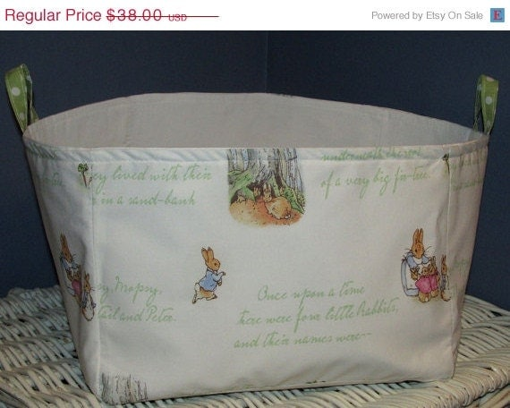 On Sale Large Fabric Diaper Storage Bin By 3buttonsn2bows