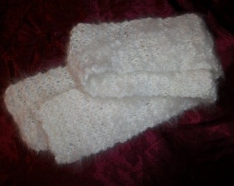 100% Angora Scarf, Handmade Knitted Scarf