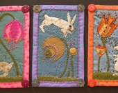 RESERVED for Becky Choi from BeadyEyedMonster - Rabbit Mini Quilts