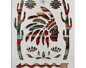 Symbols: Code West Southwestern Wood Silhouette Art