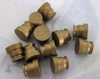 30 pcs. solid raw brass turned no hole findings 6x6mm - f4130