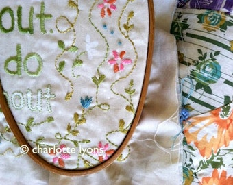 motto sampler to stitch : use it up, wear it out