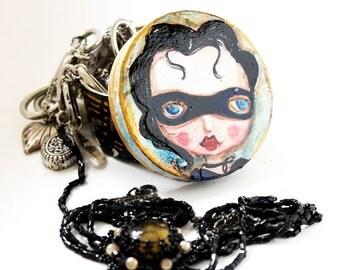 Jewelry box, original hand-painted, Masquerade