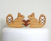 Squirrel Cake Topper. Wedding Cake Topper. Cake Topper. Rustic Cake Topper. Wood Cake Topper. Wedding Cake Ornament. Shabby Chic Cake Topper