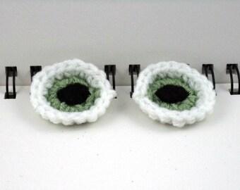 Eyeball Clips (set of 2) in Light Green