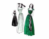 1940s Dinner and Dance Evening Dress Butterick 3963 Vintage Sewing Pattern Size 16 Bust 34 FACTORY FOLDED