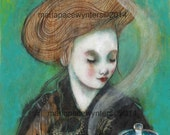 Morning Tea -ACEO  Open edition reproduction by Maria Pace-Wynters