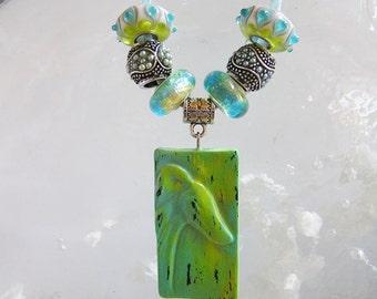 Greyhound Dog Etched Pendant with matching beads European Necklace - Nanjodogz