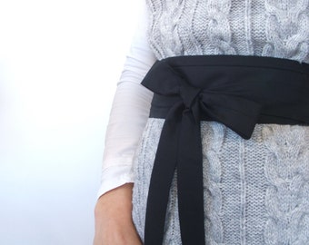 Black Obi belt - Wear with anything and everything!