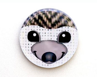 Hedgehog One Inch Pinback Button, Magnet, or Keychain