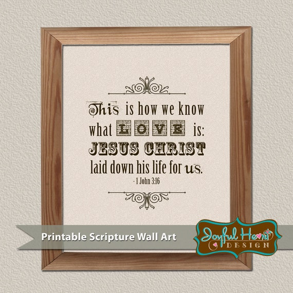 Wall Decor With Bible Verses : Items similar to bible verse wall art printable home decor