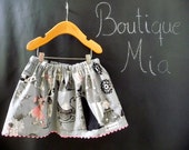 BUY 2 get 1 FREE - Skirt - Alexander Henry - Ghastlie Family - Pick the size Newborn up to 14 Years by Boutique Mia