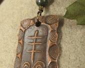 Heather  Celtic Ogham Copper Pendant, Irish Celtic Jewelry, Tree Jewelry, Necklace