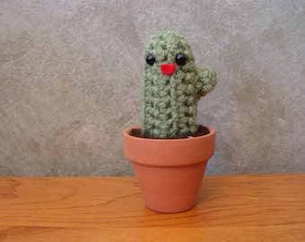 Mini Crochet Cactus Plant