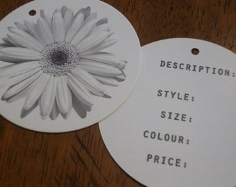 250 Custom Printed 2.5 Inch Round Hang Tags - Professionally offset printed - Super Thick 14pt Cardstock