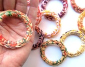 Cat Ferret Toys Toy Recycled Rings Handmade Michigan Red Orange Yellow Green Wool Yarn