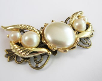 Nostalgic Pearl No.48 - Vintage OOAk Faux Pearl Jewel Bridal Hair Piece - Can be finished as a clip, barrette or comb