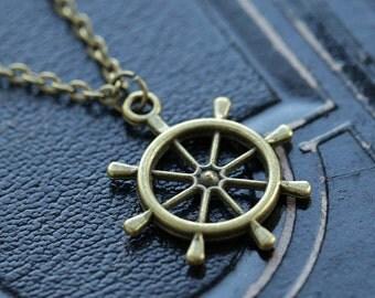 Ship Wheel Necklace 2
